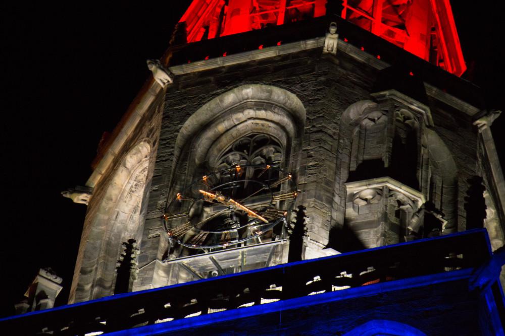 Martinitoren, 5 mei, rood wit blauw
