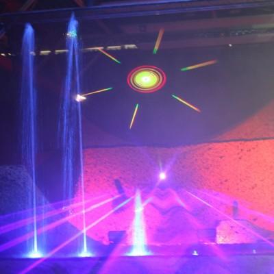 Waterfontein Projectiebol Multimediashow Laser