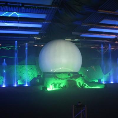Zuidlaren Sculpturepark Waterfontein Projectiebol Multimediashow Groen