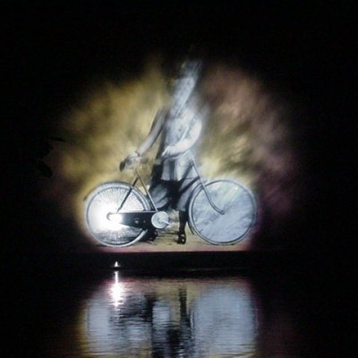 Waterscherm, luxemburg, videoprojectie op watercsherm