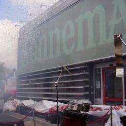 Confetti Valdoek Sonnema Bolsward Opening Projectiescherm Valscherm