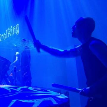 Percussie Lasershow Laser Laseracts BSH Trommel Blauw