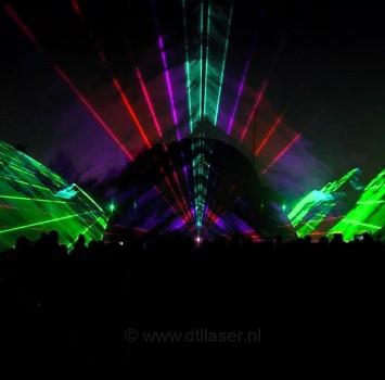 Multimedia lasershow projectiebol Sportclub Silvolde vuurwerk