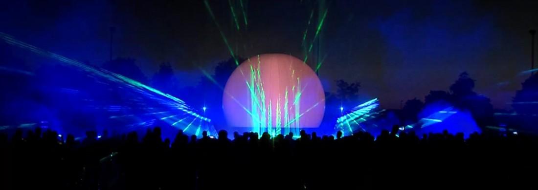 Multimedia lasershow Sportclub Silvolde