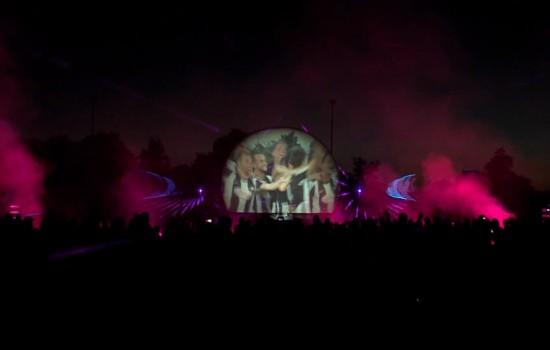 Multimedia, licht, show, lasershow ,Sportclub Silvolde, 100 jaar