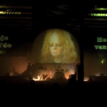 Zuidlaren Zandsculpturen Multimediashow Projectiescherm Projectiebol Projectie