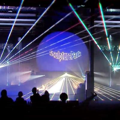Multimedia Show Laser Lasereffecten Zuidlaren Sculpturepark Projectiebol