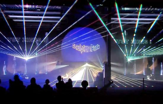 Zuidlaren, Sculpture Park, Lasershow Binnen, Projectiebol, multimedia show