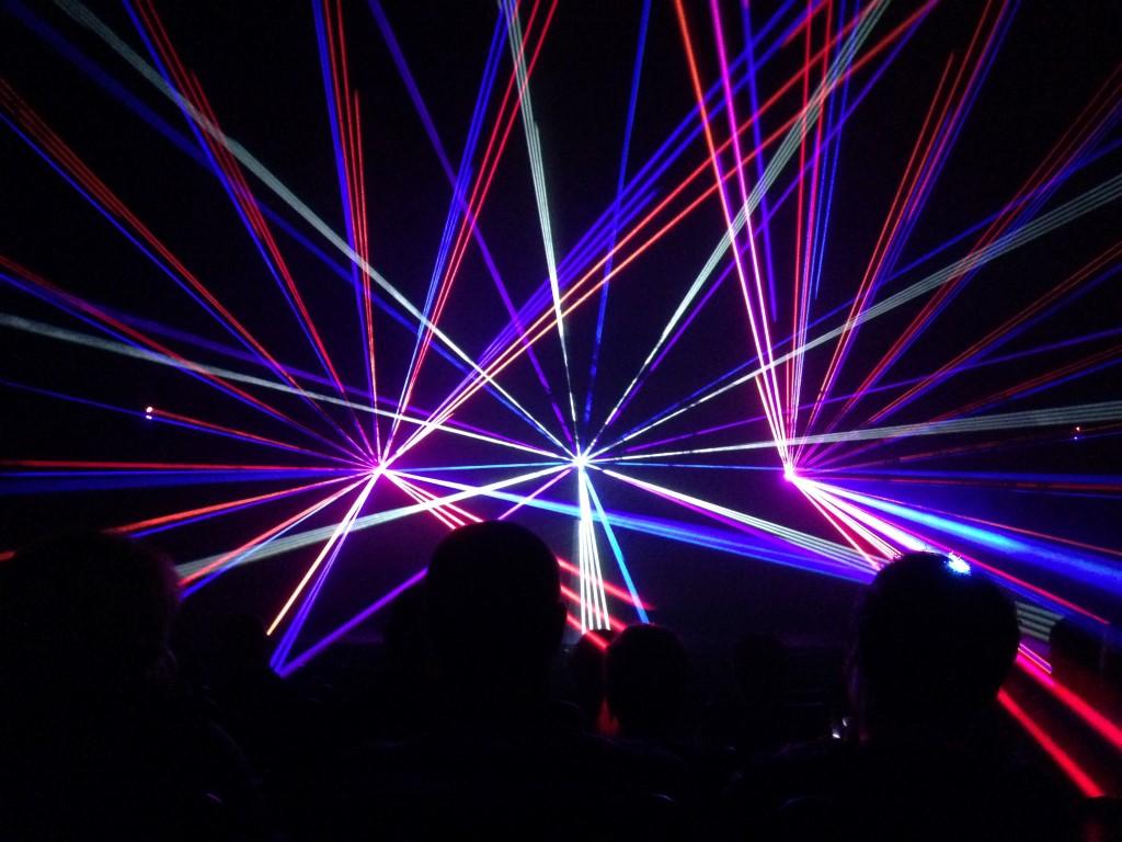 Smurfitkappa Lasershow Binnen Effecten
