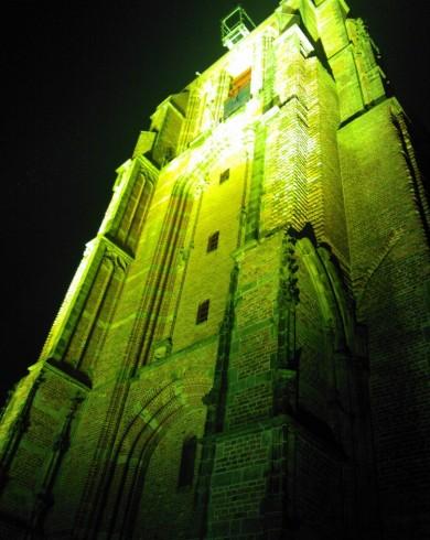Toren Leeuwarden Architectural Lighting Uitlichten Torens Geel