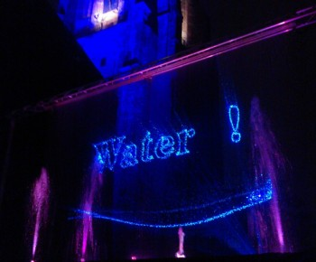 Waterscherm,vallend water, Laserprojectie, laserprojecties, waterschermen, gekleurde, fonteinen,led verlichting