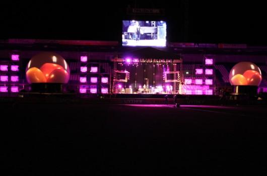 Opening Stadion Pec Zwolle Laserprojectie Projectiebol Laser Lasershow
