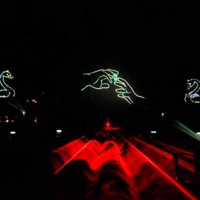 Slagharen, Miracle Of Lights, Waterscherm, waterschermen, laserprojectie, multimediashow, watergordijn, Laserprojectie