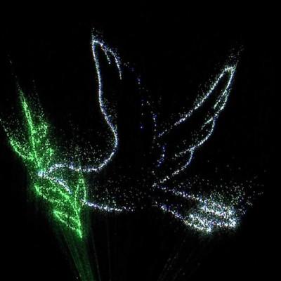 Miracle Of Lights , laser , projectie op waterscherm, laseranimatie , Waterscherm vallen water