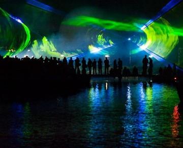 Blauwesta,d Laser Show, Buiten, Laser, special fx, lasershow over het water