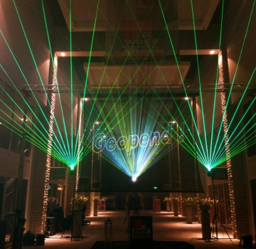 Projectiescherm Elektrisch Gaasscherm Laser Lasershow Opening