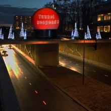 Emmen Tunnel Opening Projectieschermen Projectiebol Projectie
