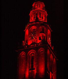 Martinitoren Uitlichten Toren Rood