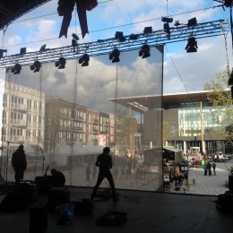 Zaailand Leeuwarden Opening Schuifscherm Projectiescherm Projectie Buiten