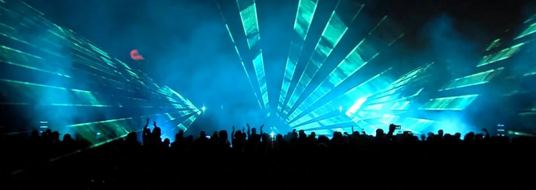 Lasershow outdoor Sportclub Silvolde 100 jaar vuurwerk