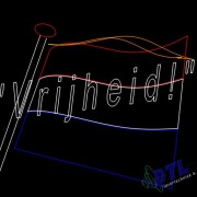 lasershow , laser animatie, Bevrijdings show