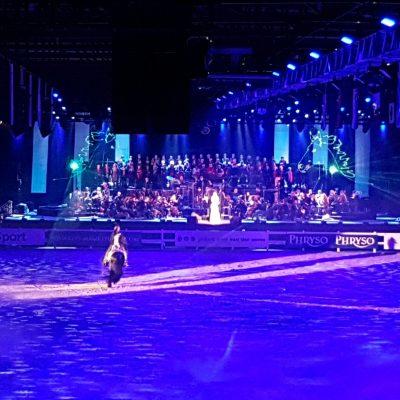Friesian proms- waterscherm- laserprojectie op water -orkest- lasershow