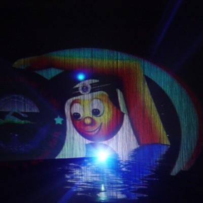 Video en laser projectie, waterscherm, Kuwait