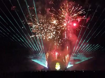 Multimedia lasershow met vuurwerk Silvolde