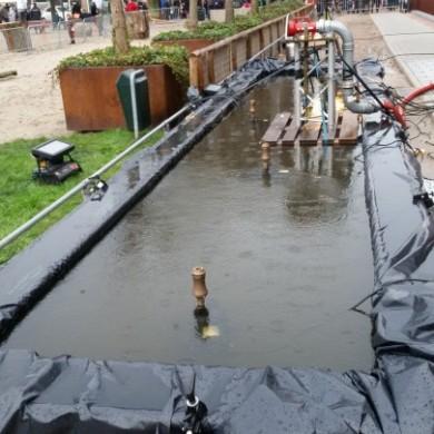 Parabool, waterscherm, fonteinen ,wateropvangbak, Lasershow Veenendaal