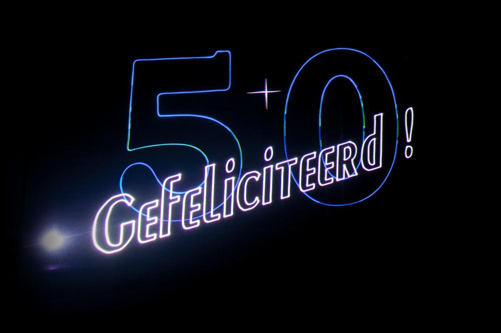 Verjaardagshow, Lasershow gefeliciteerd ,Vijftig