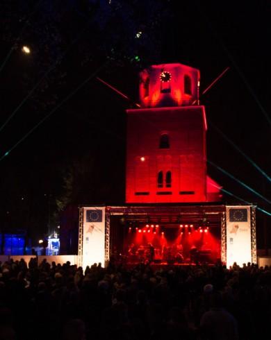 Emmen Architectural Lighting Uitlichten Torens Rood Laser
