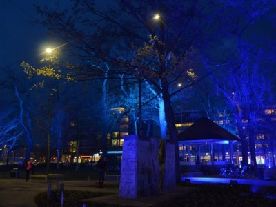 Verlichting park Emmen monument