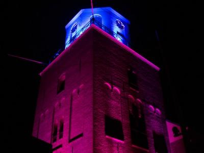 Verlichting - aanlichten - kerktoren - Emmen