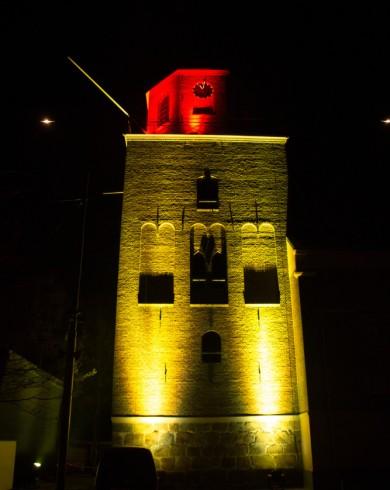 Emmen - Uitlichten -kerktoren - Marktplein