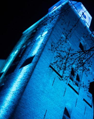 Emmen Architectural Lighting Uitlichten Torens Blauw