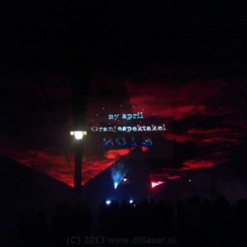 Oranjespektakel Waalwijk Projectie Laser Lasershow Show Multimediashow Lasereffecten