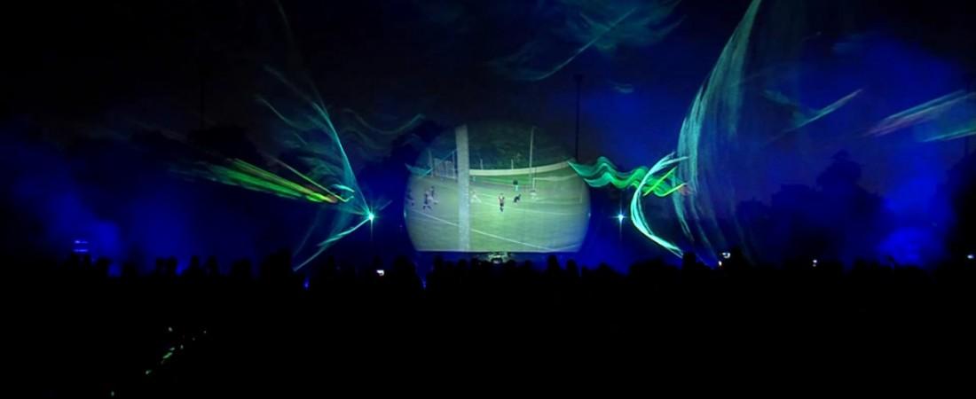 lasershow multimedia lasershow sportclub Silvolde projectiebol vuurwerk
