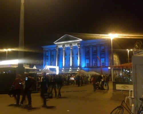 Stadhuis Groningen Architectural Lighting Uitlichten Gebouwen Blauw