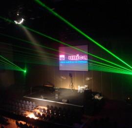 Unica Binnen Projectiescherm Opzicht Laser Lasershow