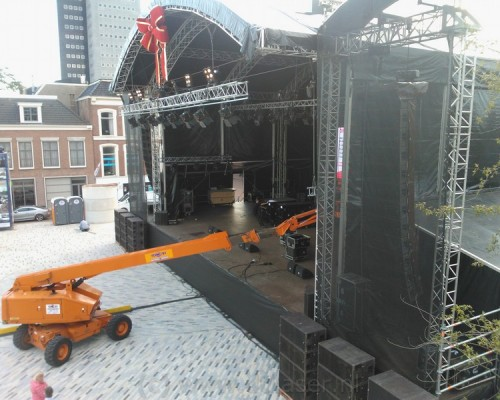 Zaailand opbouw, podium, opening