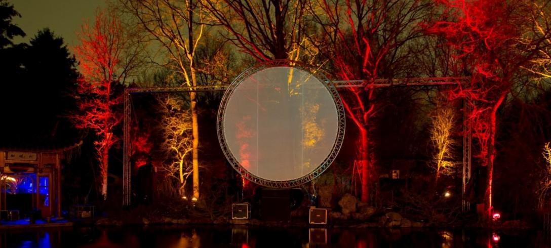Projectiescherm Cirkels Projectie Laser Lasershow Uitlichten Bomen