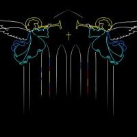 Huwelijks Show Themashow Laser Lasershow Animatie Engeltjes