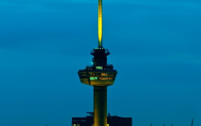 Euromast Architectural Lighting Uitlichten Torens Geel