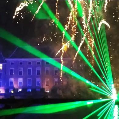 Lasershow Vuurwerk Staatsloterijshow Den Haag Oudjaarsnacht Laser