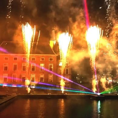 Lasershow Vuurwerk Staatsloterijshow Den Haag Oudjaarsnacht Laser Vuur