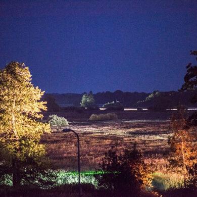 Uitlichten op grote afstand natuurgebied Hunze AA