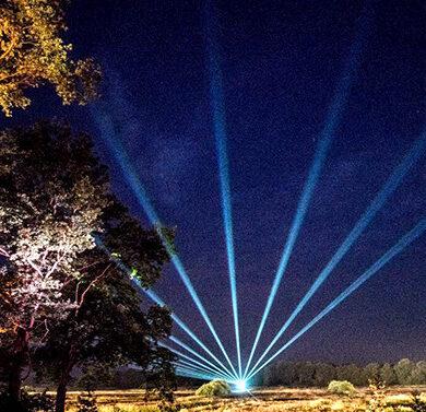 Laser waaier natuurgebied