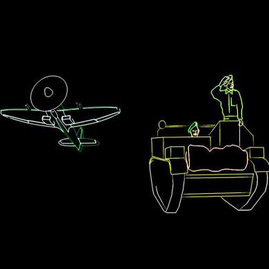 Bevrijding Show Themashow Laser Lasershow Animatie Vliegtuig Tank