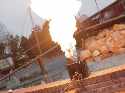 Slagharen Vlammen Multimediashow Special Effects Flames FX Vuur