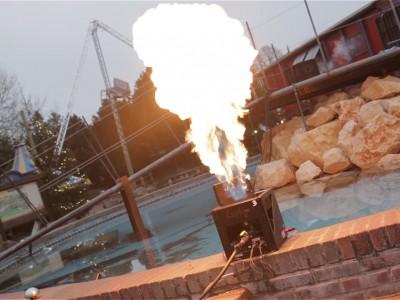 Slagharen Vlammen Multimediashow Special Effects Flames FX Brug